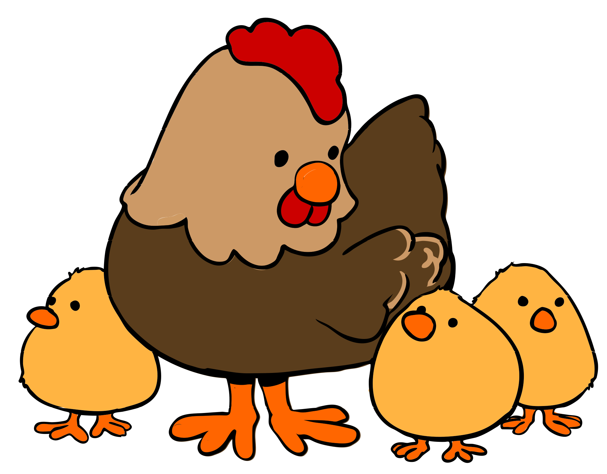Chicken png cartoon. File hen and chicks