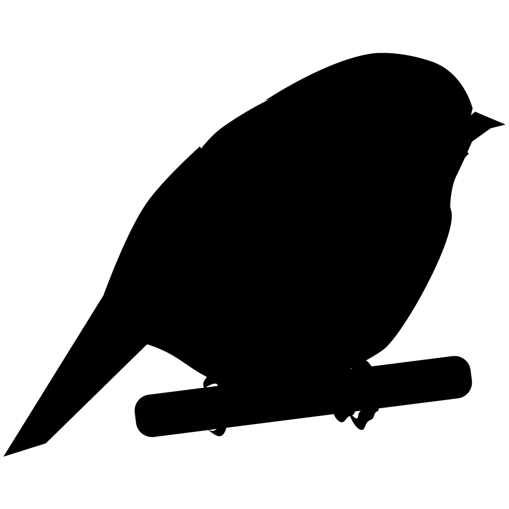 Chickadee vector black and white. Silhouette at getdrawings com