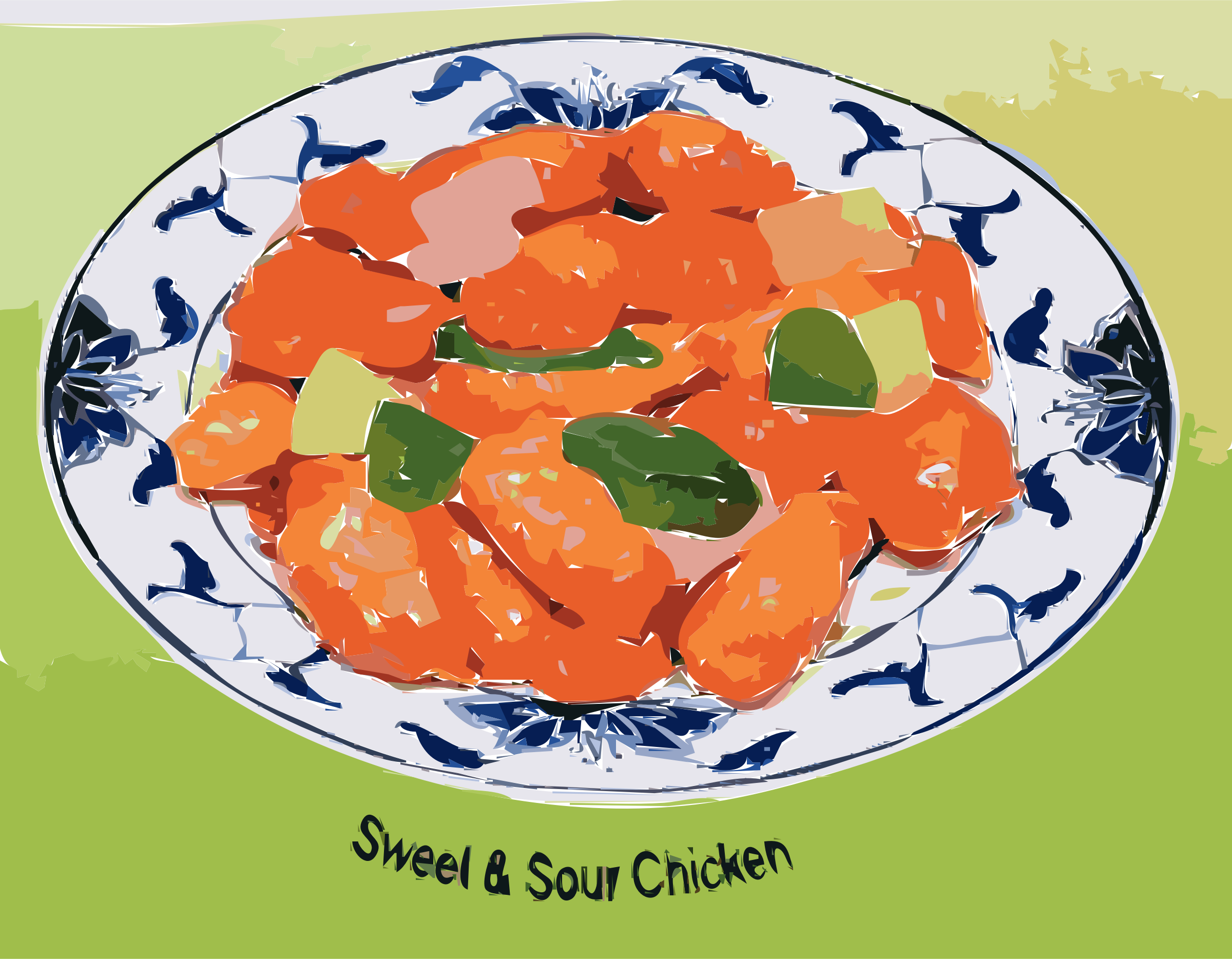 Chicken clipart chicken dish. Sweet sour big image