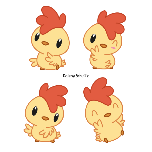 Chicken clipart kawaii. Little rooster by daieny