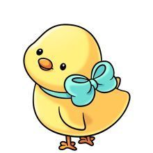 Chicken clipart kawaii. Cute baby chick free