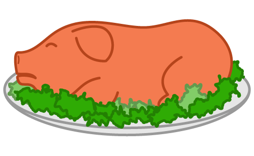 Hog vector muscle. Free roast cliparts download