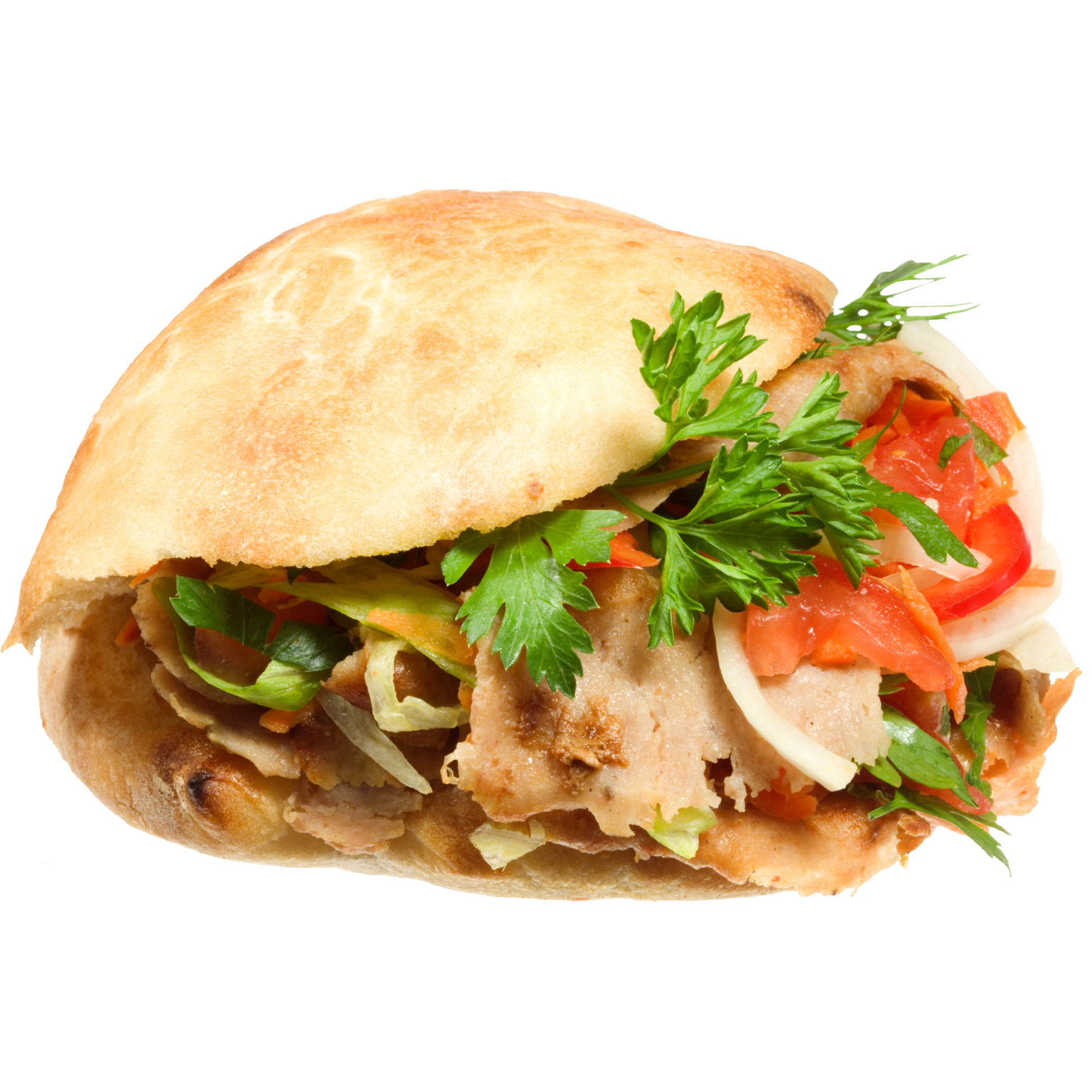 Chicken pita with fries png. Doner kebab wrap french