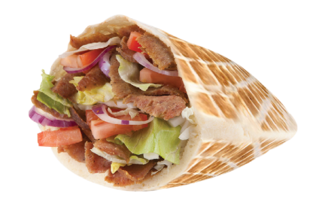 Chicken pita with fries png. Doners gyros order online