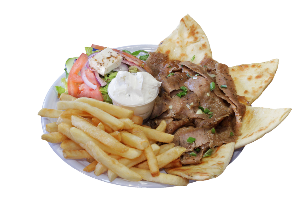 Chicken pita with fries png. Menu greek corner gyros