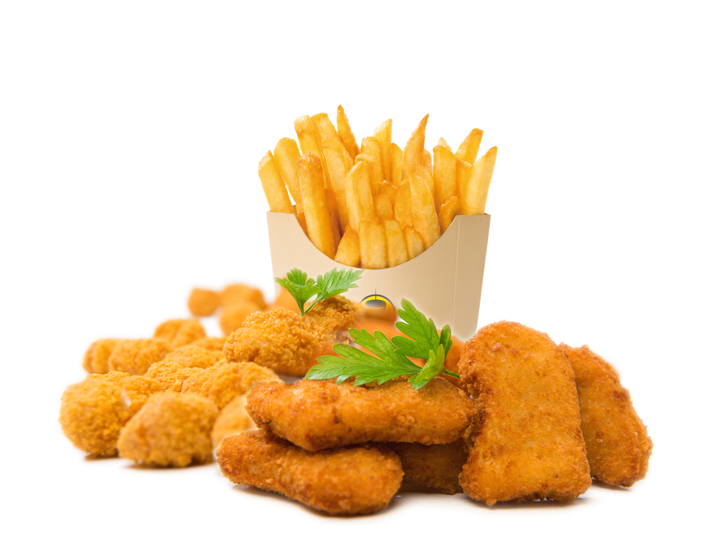 Chicken pita with fries png. Pk les box