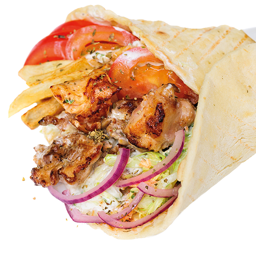 Chicken pita with fries png. Pitas and wraps gyro