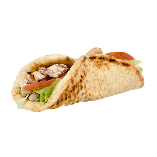 Chicken pita with fries png. Pop s beef italian