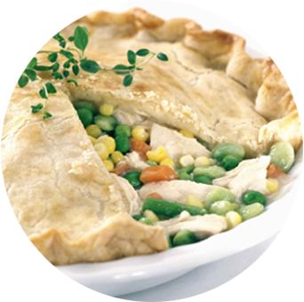 Chicken pot pie png. James foods