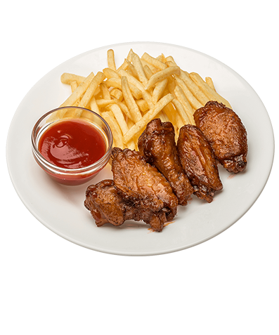 Chicken wings and fries png. Pcs sides snacks