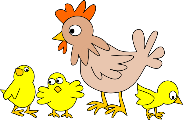 Chickens clipart veggy. Chicken and chicks clip