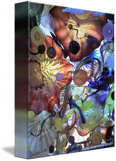 Chihuly drawing poster. Sea glass by kevin