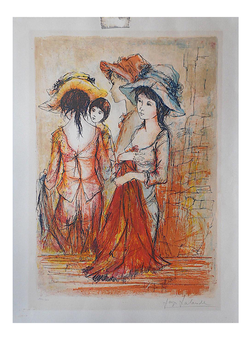 Drawing comparisons lithograph. Vintage signed numbered ltd