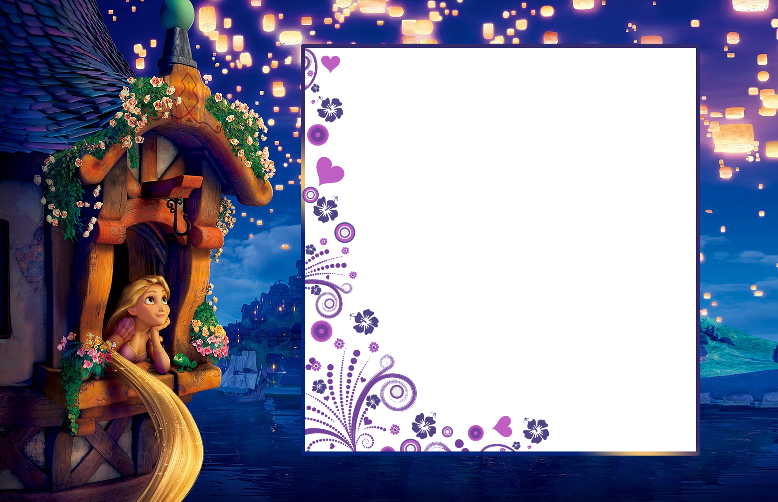 Child frame png. Transparent with rapunzel gallery