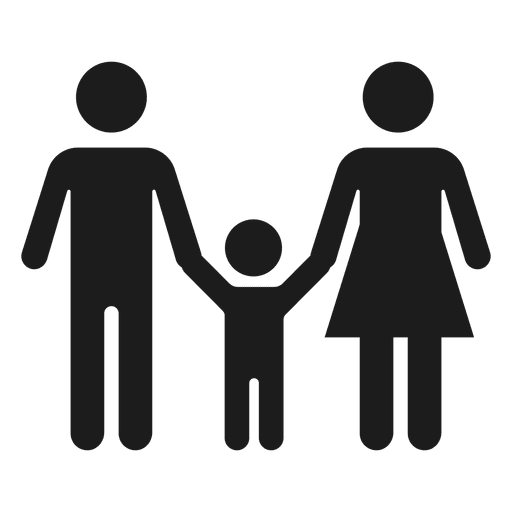 Toddler svg transparent. Family with child icon