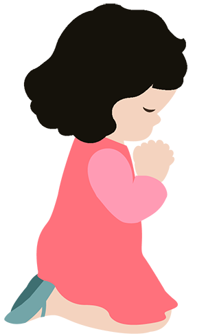Child praying png. Collection of clipart
