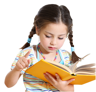 Child reading png.