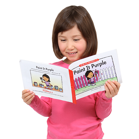 Child reading png. Online literacy products resources