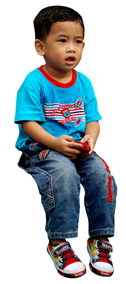 kid sitting png