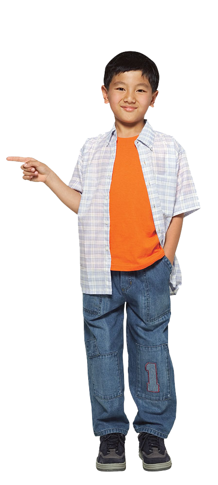 Child standing png. Asian pointing image purepng