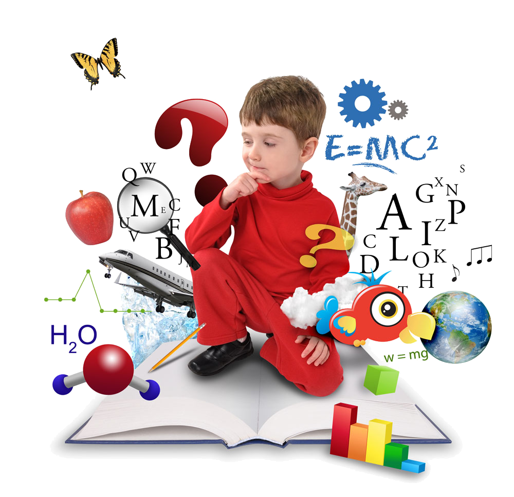Child thinking png. Science technology engineering and