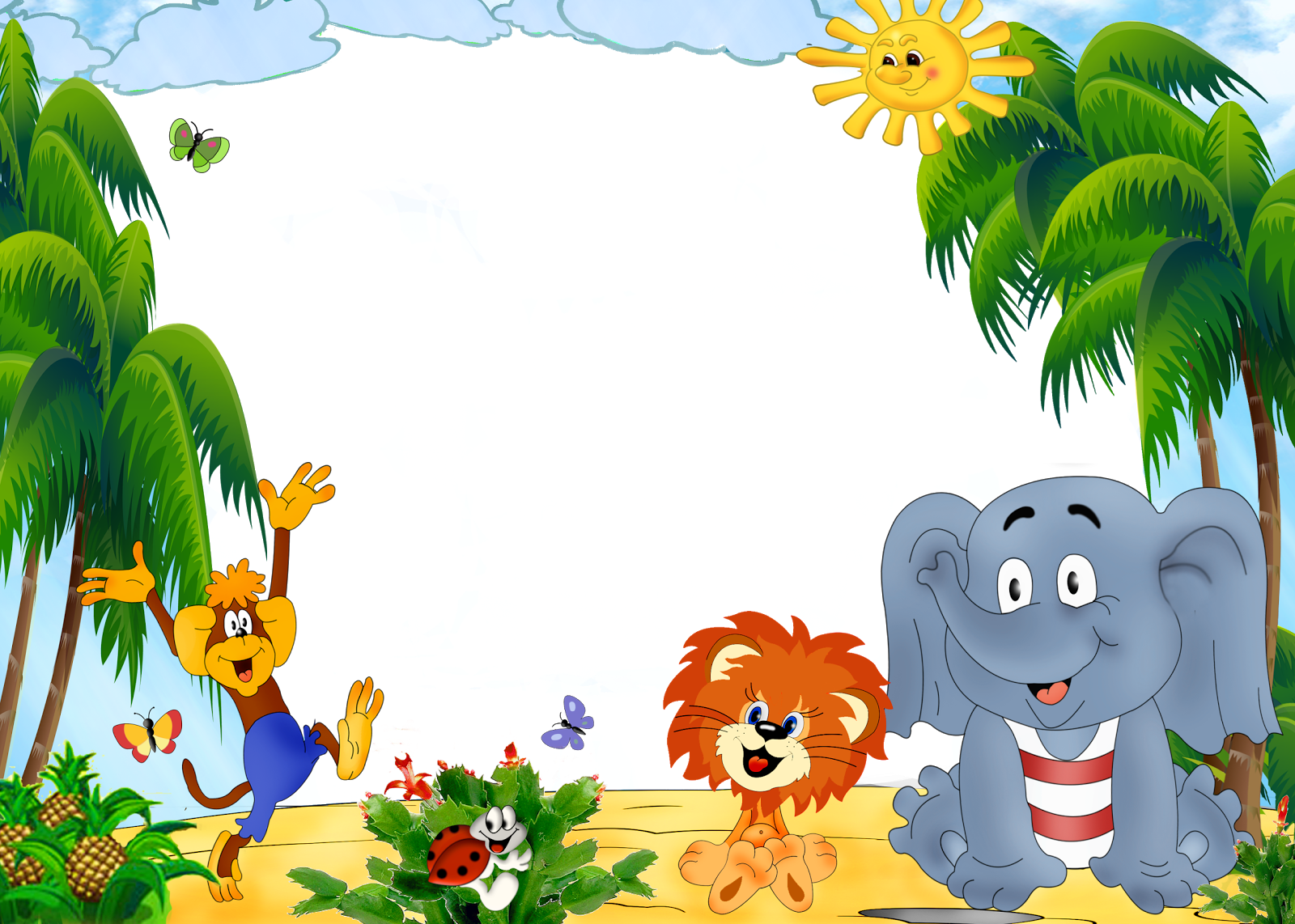 Children background png. Zoo photoshop free icons