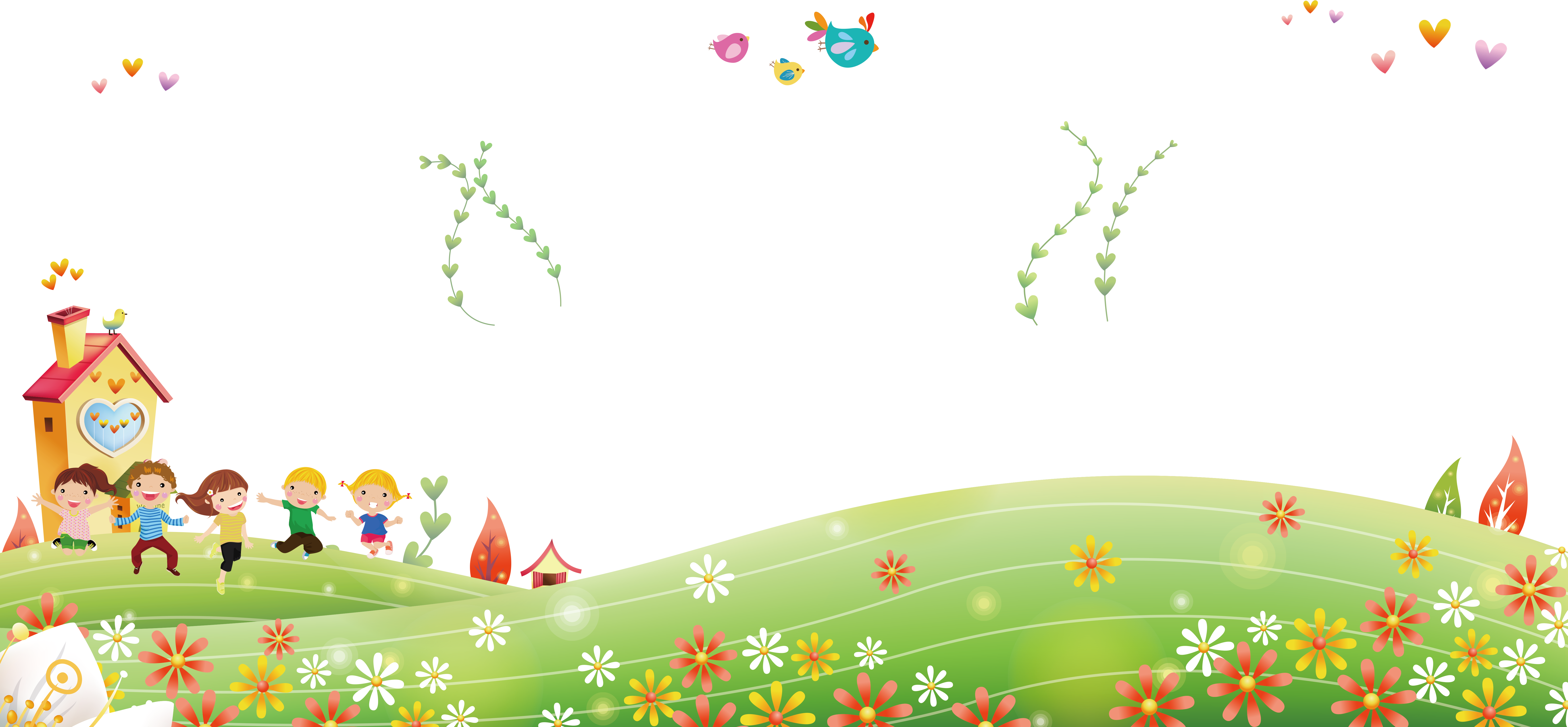 Children background png. Child cartoon outside the