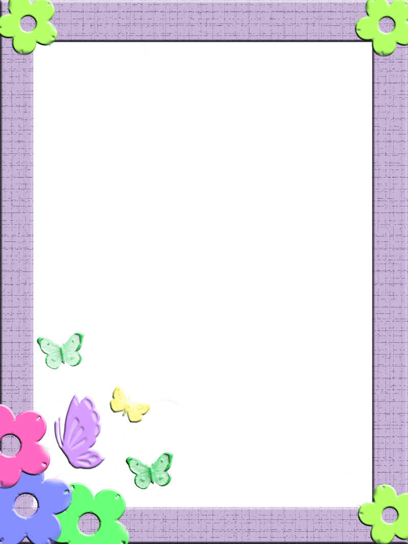 Children border png. Frames and borders for