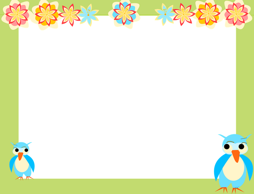 Png borders and frames. Clip art owl scrapbooking