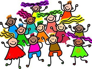 Children clipart assembly. Room year