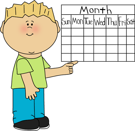Children clipart calendar. Grafton public library school