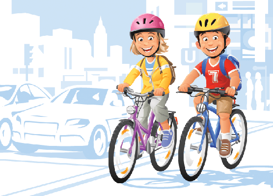 Children clipart cycling. Cities on bikes the