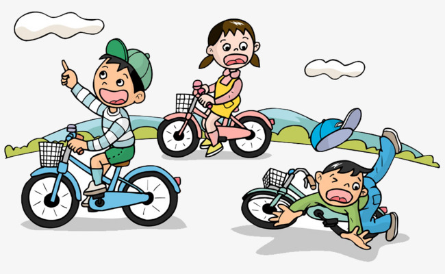Children clipart cycling. Ride bikes wrestling by