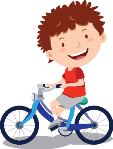 Children clipart cycling. Sports flashcards