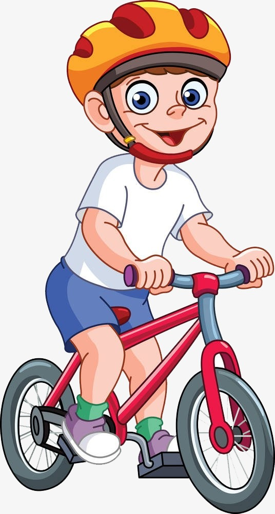 Children clipart cycling. Child movement png image