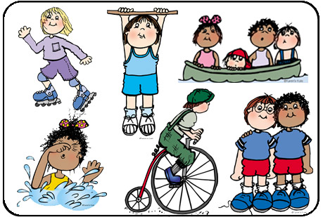 Children clipart sport. Sports kids downloadable