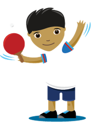 Children png cartoon. Playing sports table tennis