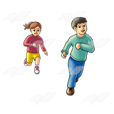 Children running png. Abeka clip art