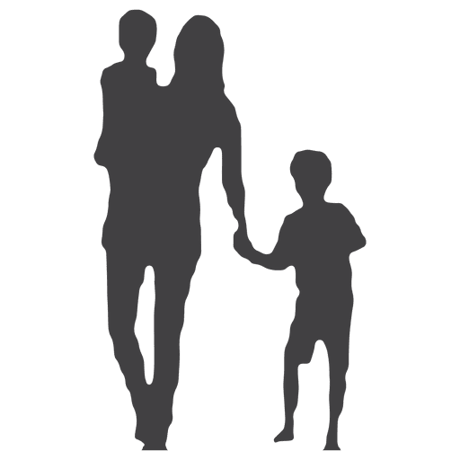 Children silhouettes png. Mothers day silhouette with