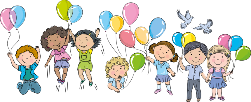 Children vector png. Forgetmenot and balloons