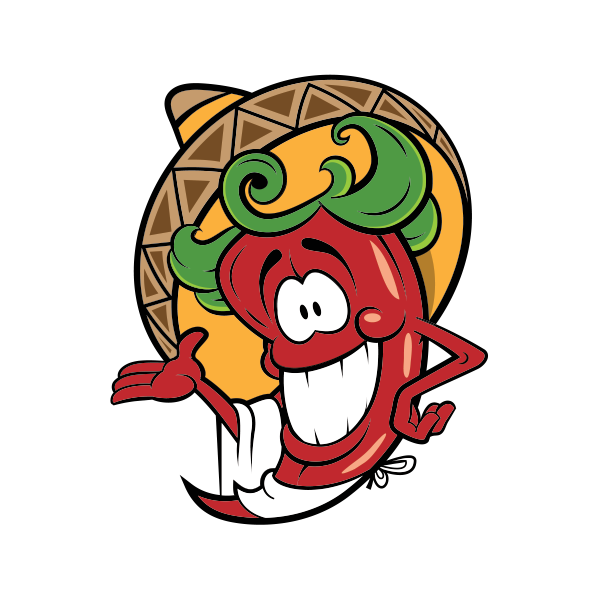 Chili drawing mexican. Printed vinyl red hot
