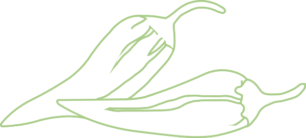 Chili drawing green chilli. Outline clip art at