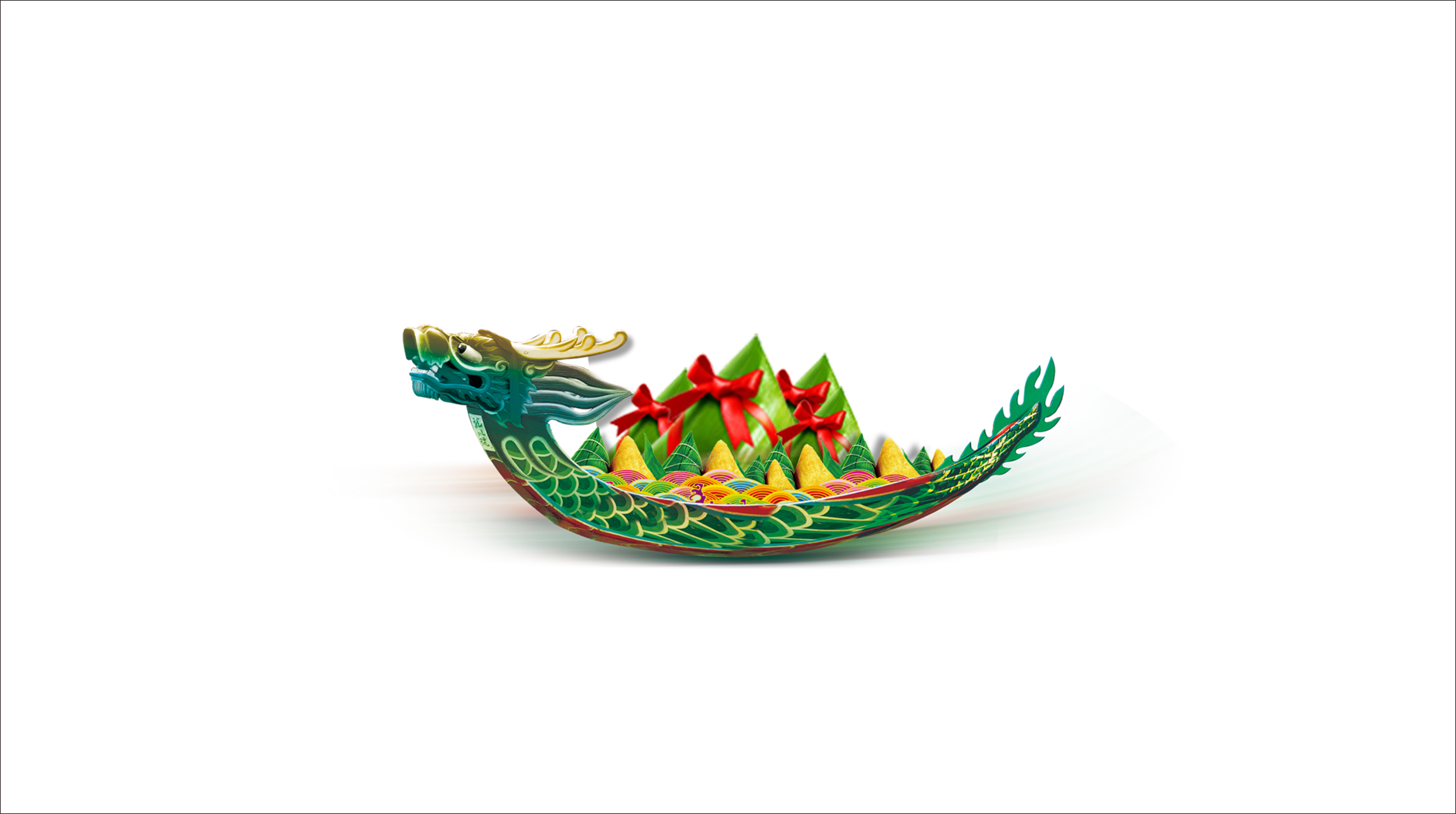 Drawing chinese dragon boat festival. Hand painted cartoon decoration