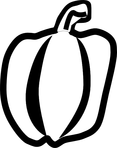Chili drawing outline. Green pepper at getdrawings