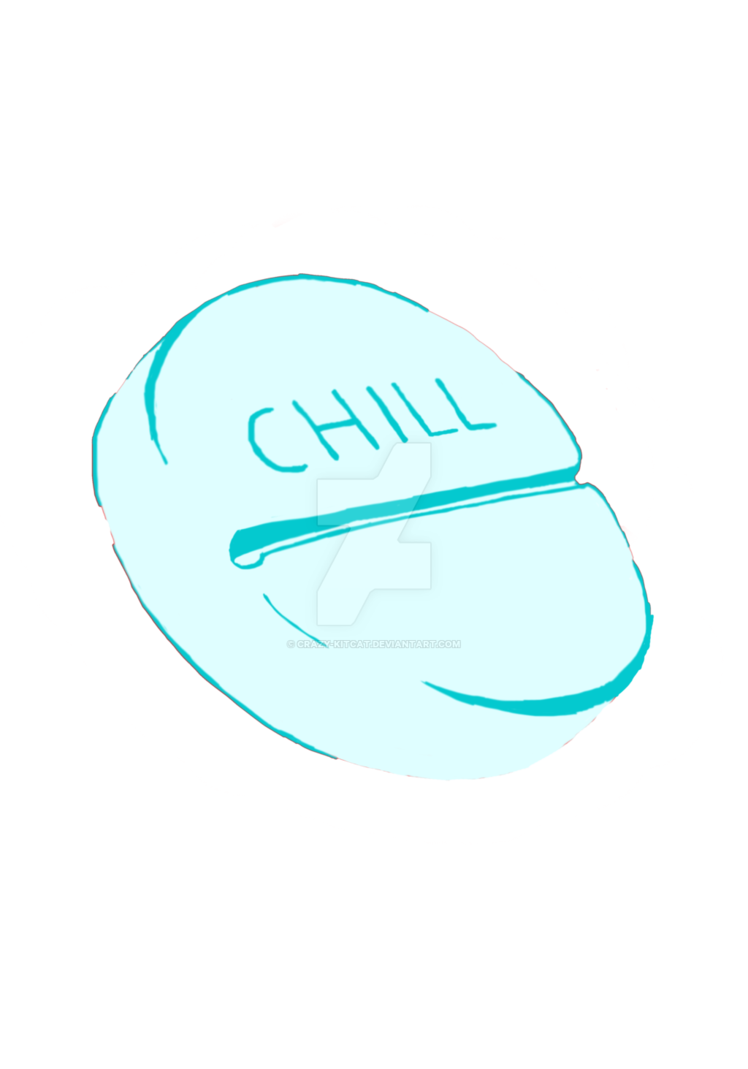 Chill pill png. By crazy kitcat on