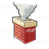 Chimney clipart. Smoke from download