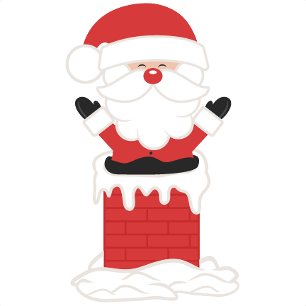Chimney clipart. Santa in svg scrapbook