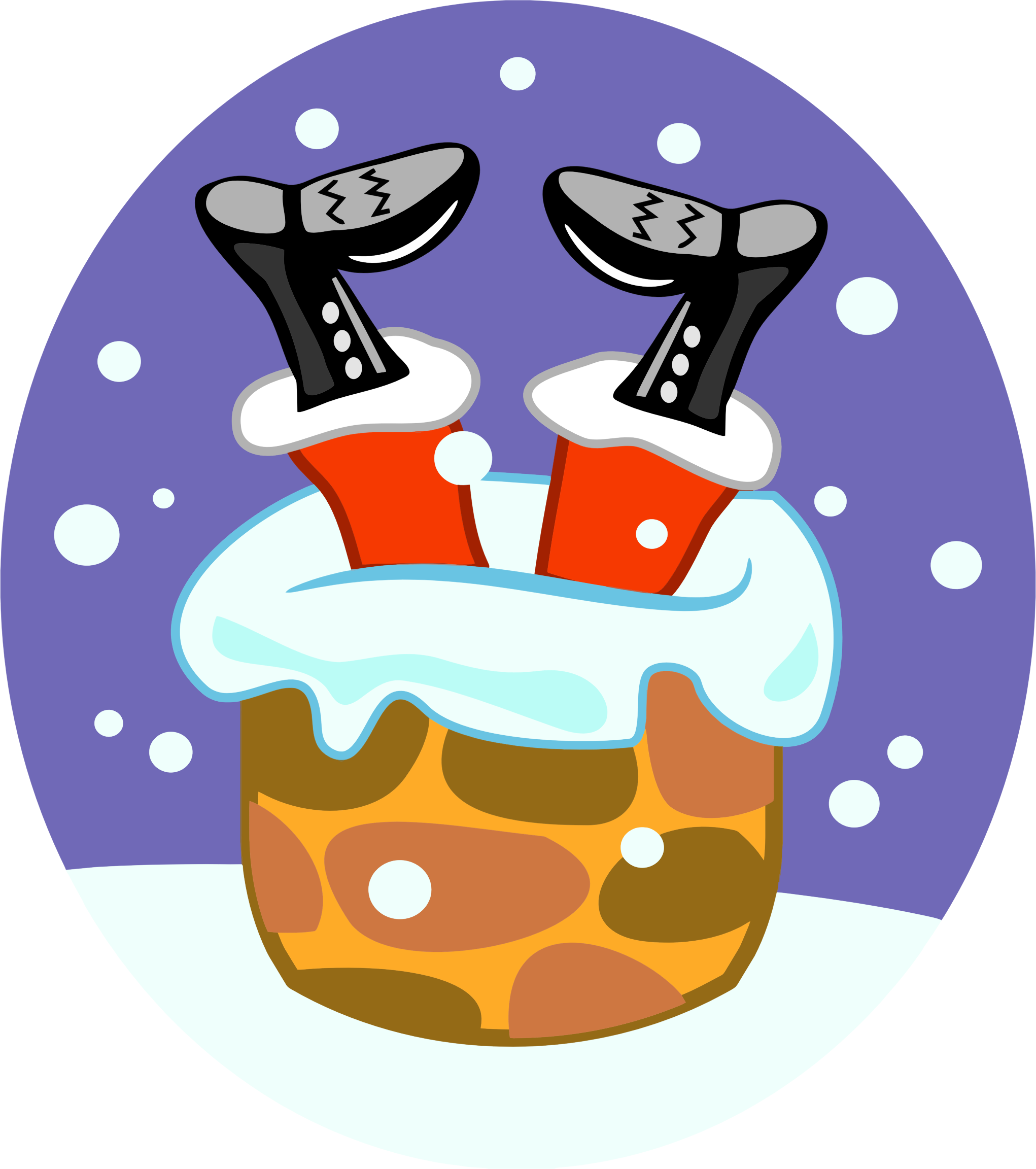Chimney clipart. Santa claus stuck in