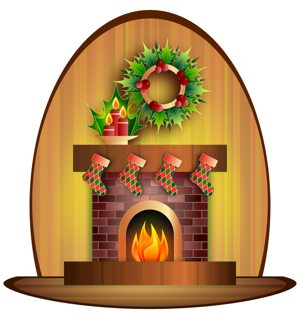 Chimney clipart fireplace. Free of and xmas