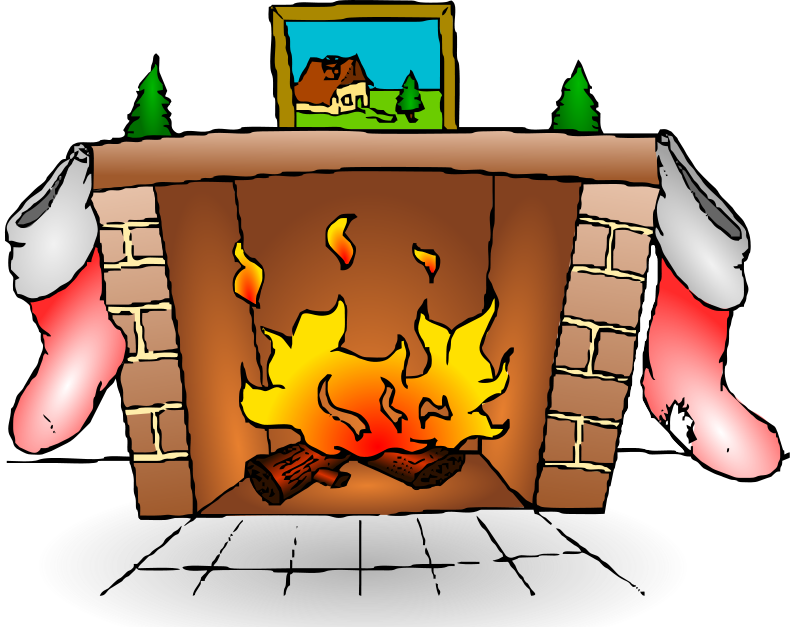 Chimney clipart indoor. Free holiday fireplace cliparts